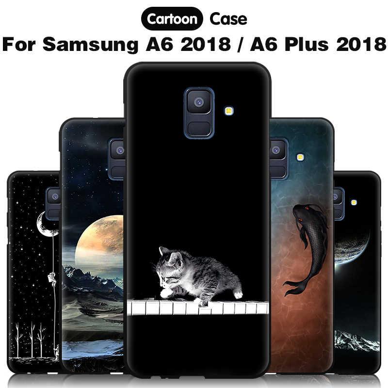 Чжурчжэней задняя крышка для samsung Galaxy A6 плюс силиконовый чехол ТПУ мягкий чехол для samsung A6 плюс крышка для samsung Galaxy A6 чехол