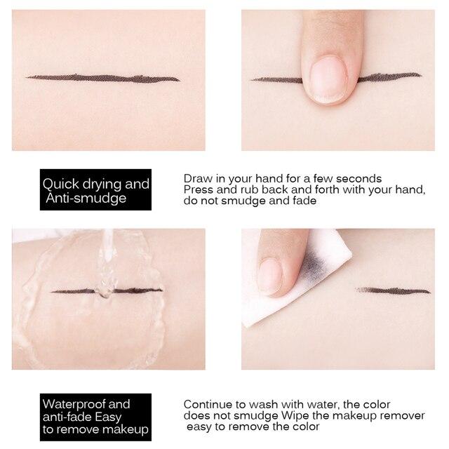 MIXDAIR Eyeliner Waterproof Liquid Eyeliner Beauty Cat Style Black Long-lasting Eye Liner Pen Pencil Makeup Cosmetics 2