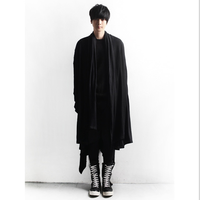 d32d0d3902b Men New Non Mainstream Personality Casual Cloak Slim Thin Long Spring And  Autumn Coat Gothic Jacket