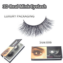 New 3D Fashion Bushy Cross Natural False Eyelashes Mink hair Handmade Eye Lashes 3D Lashes-M006