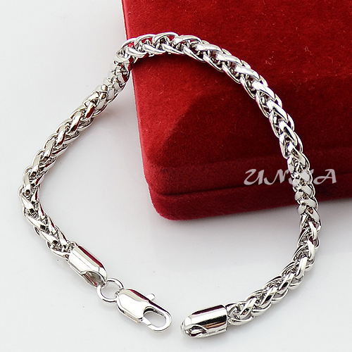 Customized 5mm Jewelry Sets For Men Women White Gold Filled Wheat Necklace Bracelet Set In From Accessories On Aliexpress