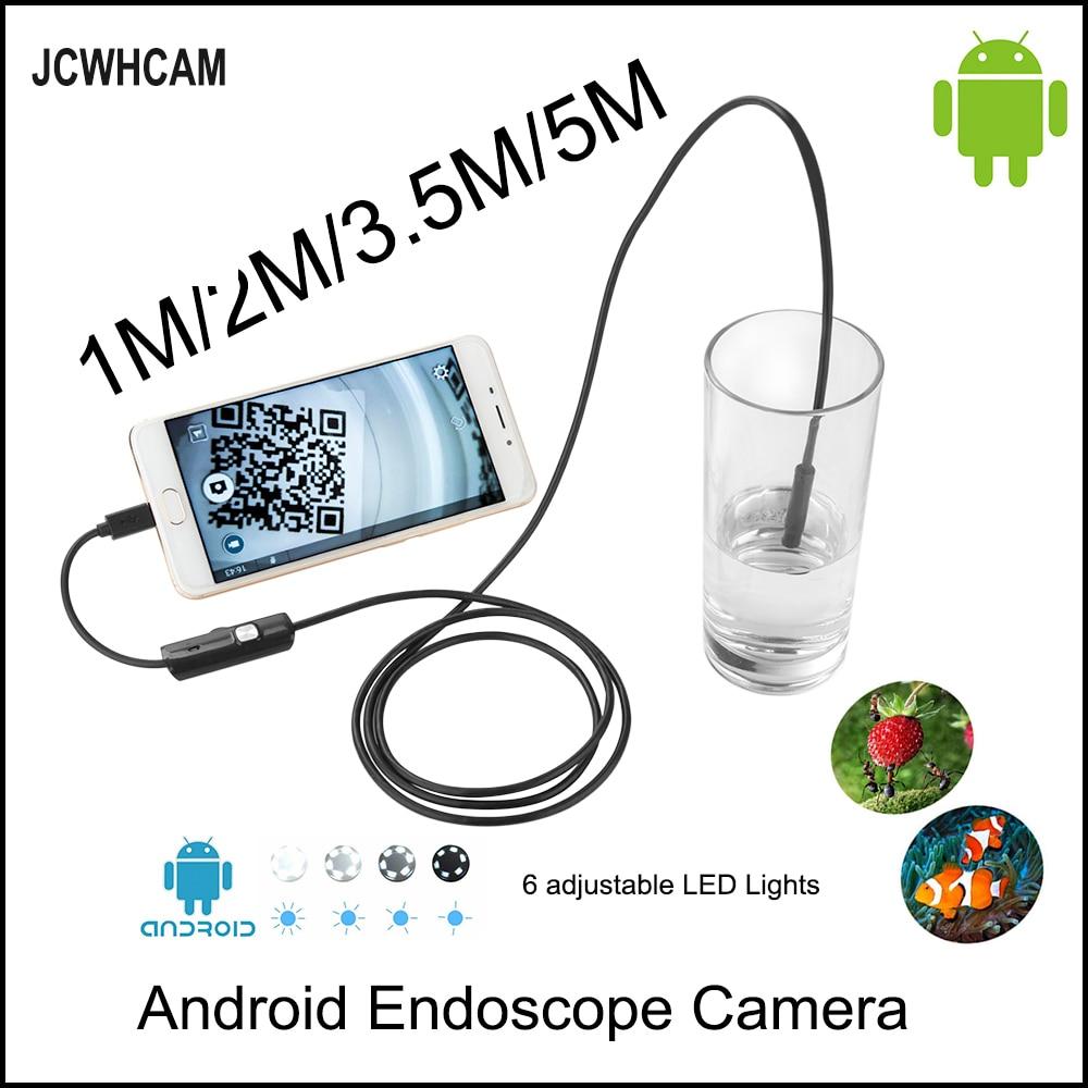 где купить JCWHCAM HD 720P OTG Android USB Endoscope Camera 8mm 5M 3.5M 2M 1M 10M Flexible Snake USB Pipe Inspection Borescope дешево