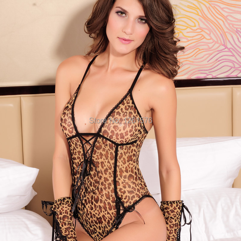 Aliexpress.com : Buy Leopard Babydoll Erotic Lingerie Hot Lace ...