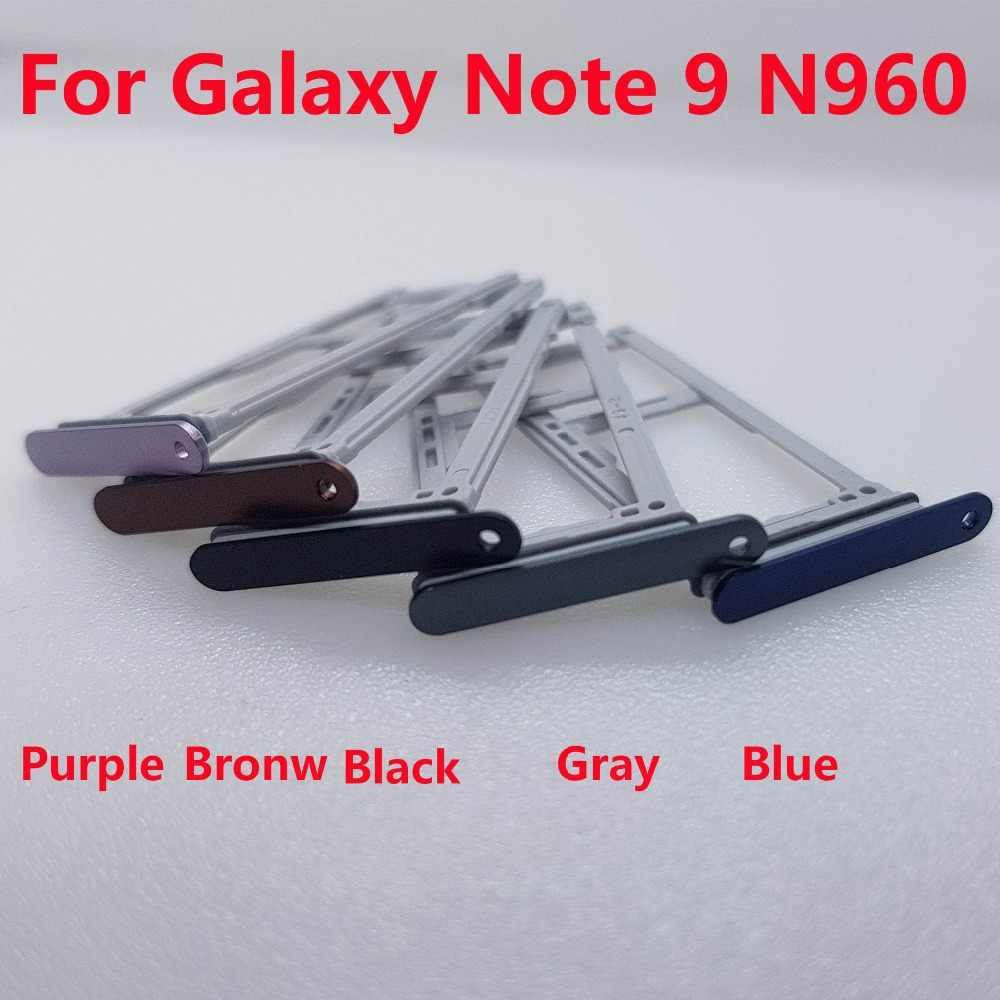 Dupla única bandeja de cartão sim para samsung galaxy note 9 n960 n960f n960fd n960u placa sim slot titular parte substituição