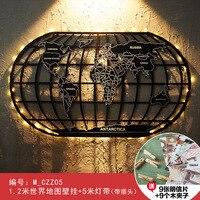 Ретро Карта мира настенное украшение креативная офисная Гостиная Бар Кафе настенное украшение железное Искусство и ремесла Домашнее украш