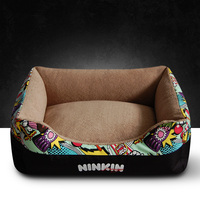 High Quality Luxury Canvas Pet Bed Cat Mat Large Dog Bed Sofa Cozy Dog House Cama Puppy Teddy Nest Sleep Cushion Warm Kennel