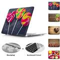 Piruleta de chocolate de madera patrones de textura caso para macbook air pro retina 11 12 13 15 ordenador portátil del bolso del caso para macbook air 13 caso