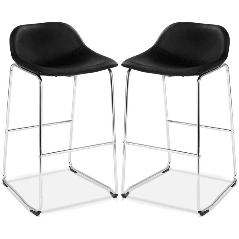 Modern 2pcs PU Leather Pub Bar Stool Barstools Dining Side Chairs Furniture High Quality HW58846