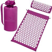Treat Lotus Acupressure Massage Mat Pillow Set Yoga Mat for Relieves Stress Back Neck Sciatic Pain Relaxation Tension Release