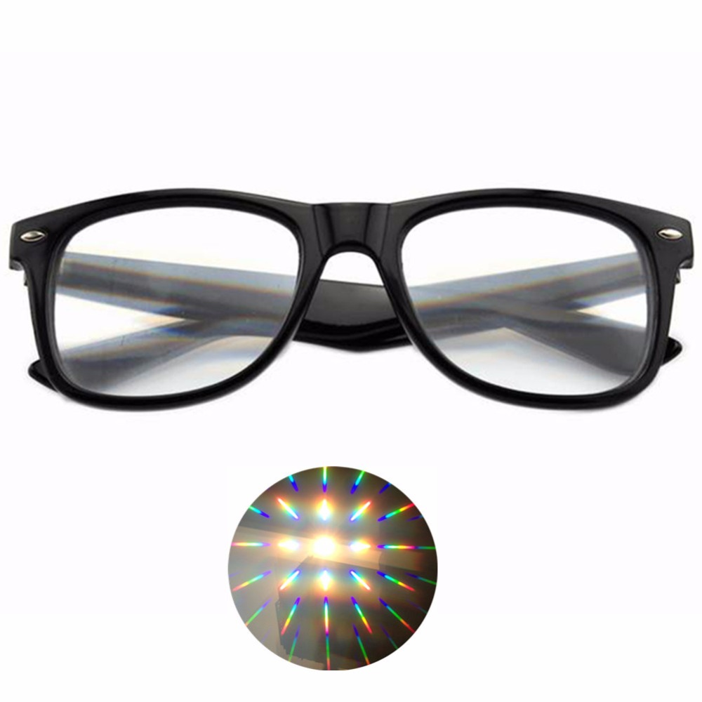 50pcs Plastic 3D Fireworks Diffraction Glasses Wholesale Plastic for Night Club New Year Parties Concerts Dance