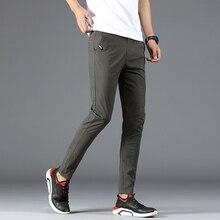Trousers Summer Men's Casual Pants Men's Slim Stretch Pants Thin Large Size 28-38 Men's Cotton Comfortable Soft Casual Pants