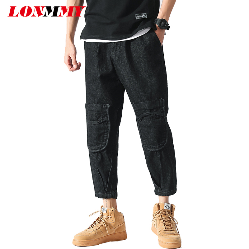 LONMMY Plus size 46 Men jeans Cargo Harem pants masculino cotton stretc fashion Denim mens Clothing stretch 2018 spring autumn