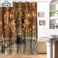 Luxury palace printing shower curtain waterproof partition photo shower curtain 3D personality customization