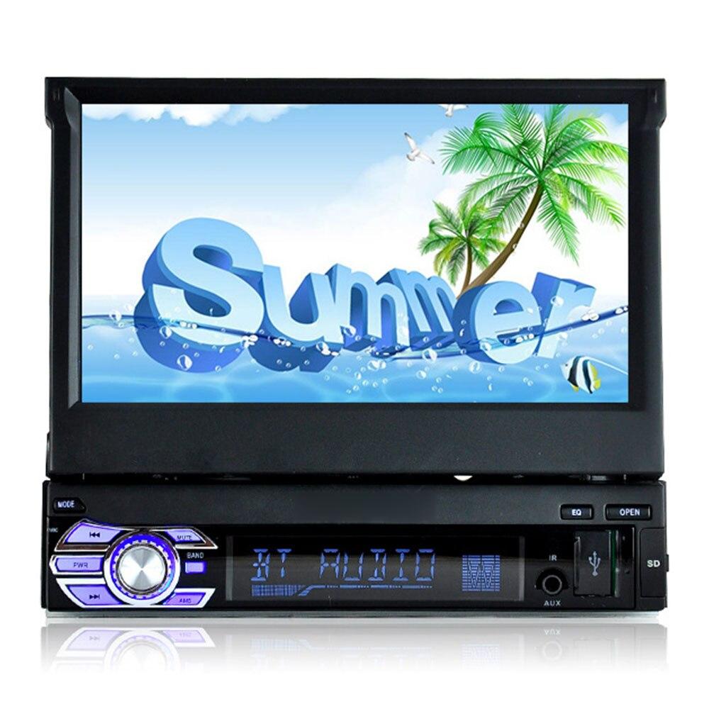 Écran rétractable pour voiture | Écran numérique HD 7 pouces, voiture, Mp4 Mp5, lecteur stéréo, FM, Radio Audio, version Bluetooth