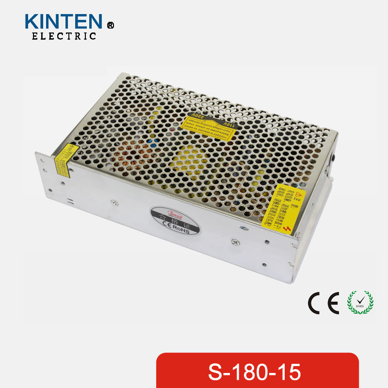 180W 15V 12A Single Output Switching power supply for LED Strip light AC to DC single output uninterruptible adjustable 24v 150w switching power supply unit 110v 240vac to dc smps for led strip light cnc