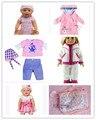 Бесплатная Доставка 4 компл. + Рюкзак Куклы Одежда пальто Одежда fit 43 см Baby Born zapf, дети лучший Подарок На День Рождения Рождественские подарки