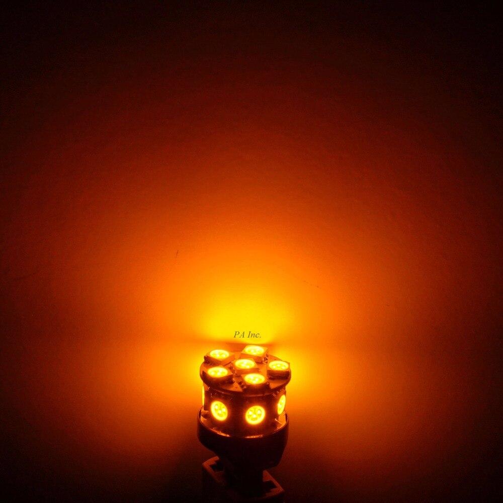 PA LED 10PCS x Car LED Lamp 13SMD T20 7443 5050 LED Car Turn Brake Light Stop Light Lamp Bulb LED 12V YELLOW 10pcs car led t20 7443 w21 5w 7440 13 smd led 5050 13smd led clearance lights brake light bulb lamp white red yellow blue 12v