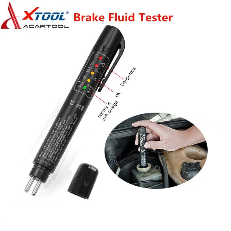 Cheap Price Xtool Auto Car Brake Fluid Tester Check Fluid Quality 5led Indicator For Dot3/dot4/dot5.1 Car Diagnostics Testing Automotive Pen Can Be Repeatedly Remolded.
