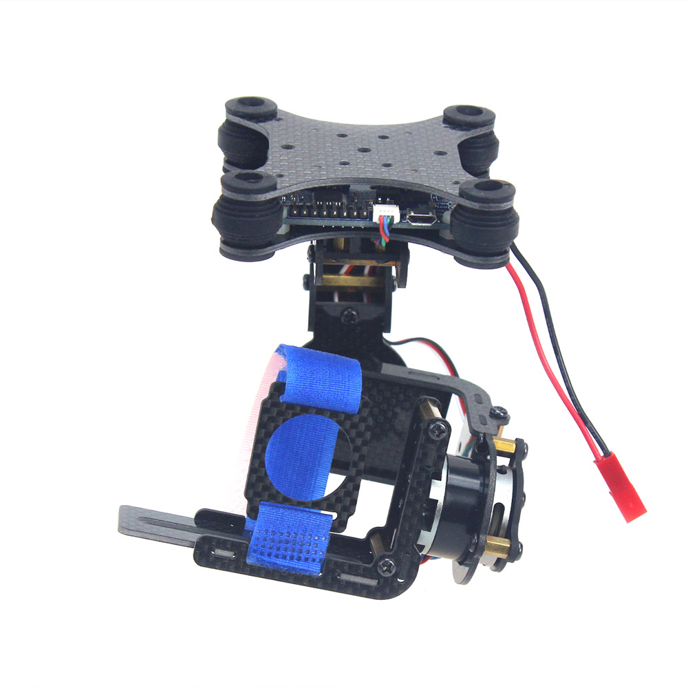 Carbon 2 Axle Brushless Camera Gimbal PTZ Full Set Plug & Play Controller For Gopro 3 3Plus FPV Phantom RC Quadcopter F06795 fpv 3 axis cnc metal brushless gimbal with controller for dji phantom camera drone for gopro 3 4 action sport camera only 180g