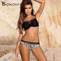 2018 Sexy Black Lace Bikini Women Push Up Bathing Suits Swimsuit Brazilian Bikinis Set Women Solid