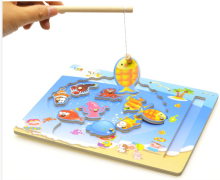 Brain Game Fishing Puzzles for children Wood Fishing Toys with fishing rod Outdoor Fun & Sports Learning & Education GH234