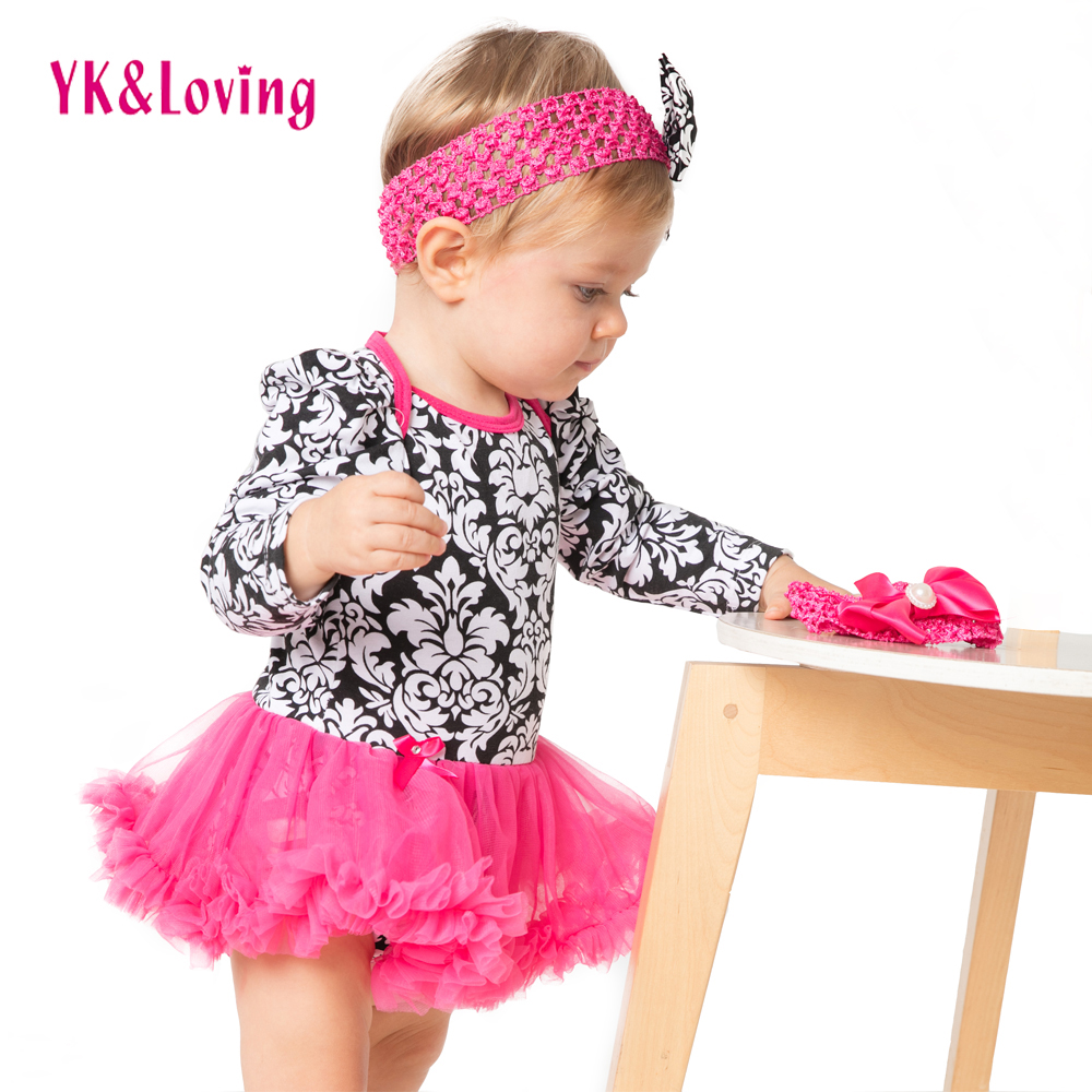 Girl Romper Long Sleeve Damascus Infant Jumpsuit Girls