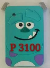 Coque Para Samsung Galaxy Tab 2 7.0 P3100 P3110 Durable Suave Patrón de Caja de la Tableta de silicona de Dibujos Animados en 3D Lindo Sulley contraportada funda