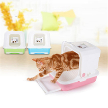 Health Closed Large Cat Litter Box Sand Scoop Trays Pet Supplies Cats Toilet Bag Tuvalet Pee Gatos House Plastic Shovel 80A0453
