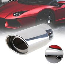 VODOOL Universal Car Round Exhaust Muffler Tip Stainless Steel Auto Tail Rear Chrome Round Exhaust Pipe