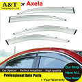 car styling Window Visors For 3 Axela 2013 2014 2015 Sun Rain PC Rain Shield Stickers Covers Car-Styling Awnings Shelters