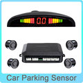 Car Parking Sensor Reverse Backup Radar System with LED Backlight Display 4 Sensors 6 Colors Option Parktronic Free Shipping