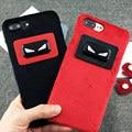 Moda fend pequeños monstruos de peluche cubierta de la caja del teléfono para apple iphone 6 6 s 6 plus 6 splus 7 7 plus cubierta del teléfono coque Fundas