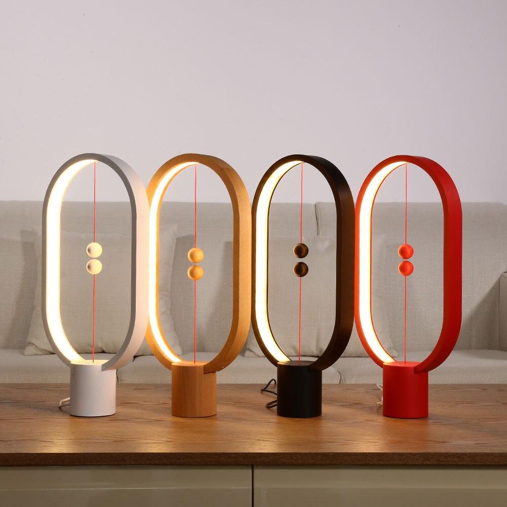 Allocacoсветодио дный Heng LED балансная лампа ночник USB Powered домашний декор спальня офис ночник Роман свет рождественский подарок свет