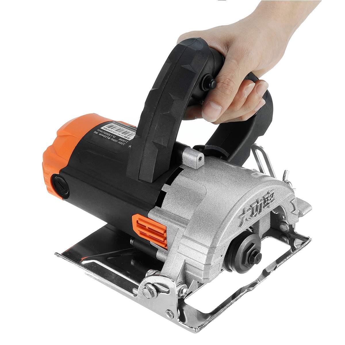 1180W moteurs de scie électrique 110mm lame 13000 tr/min haute vitesse bois métal portable Machine de découpe fil scie céramique marbre carrelage outil - 4