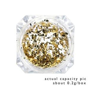Image 5 - 1 stücke Spiegel Feuerwerk Glitter Nagel Pulver Pailletten Gold Silber Paillette Unregelmäßige Form Chameleon Nail art Flake Spitze LACB01/02 1