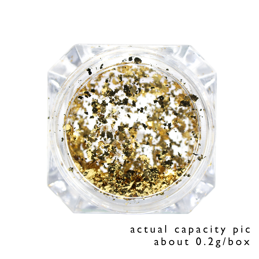Image 5 - 1pcs Mirror Firework Glitter Nail Powder Sequins Gold Silver Paillette Irregular Shape Chameleon Nail Art Flake Tip LACB01/02-in Nail Glitter from Beauty & Health