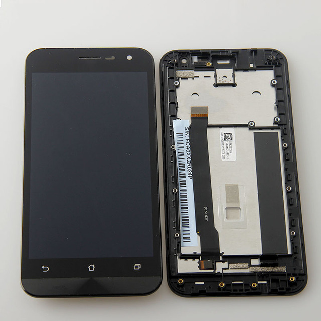 """4pcs 1280x720 LCD Display Glass Panel Touch Screen Digitizer Assembly with frame 5"""" for Asus ZenFone 2E Z00D ZE500CL"""