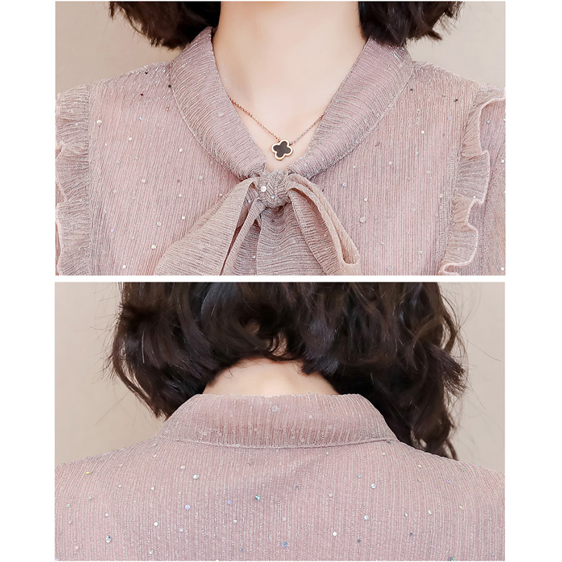 Korea Style Women Blouse Shirts 2018 Elegant Ruffles Women Tops Plus Size warm Solid Casual Loose Shirt blusas feminina NW1055 5