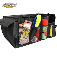 AutoCare Car Trunk Storage Bag Cargo Organizer Collapsible Bag Storage Black Folding in the Car Trunk