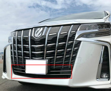 2PCS STAINLESS STEEL FRONT LOWER MESH GRILLE COVER TRIM GUARD MOLDING ACCESSORIES For Toyota Alphard AH30 2019 Sport Edition metal front mesh grille fog light lower molding cover trim 2pcs for porsche cayenne 2015 2016