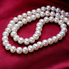 Retro Elegant Pearl Short Necklace Diameter 7-10mm Wedding Party Birthday Gifts Necklace Fashion Freshwater Pearl Necklace Women