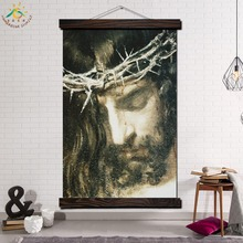 Lord Jesus Art Single Framed Scroll Painting Modern Canvas Prints Poster Wall  Artwork Pictures Home Decor