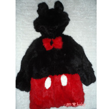 Popular new Lovely Children's fur coat,rabbit fur coats overcoat,baby winter jacket coats free shipping CFBB04N