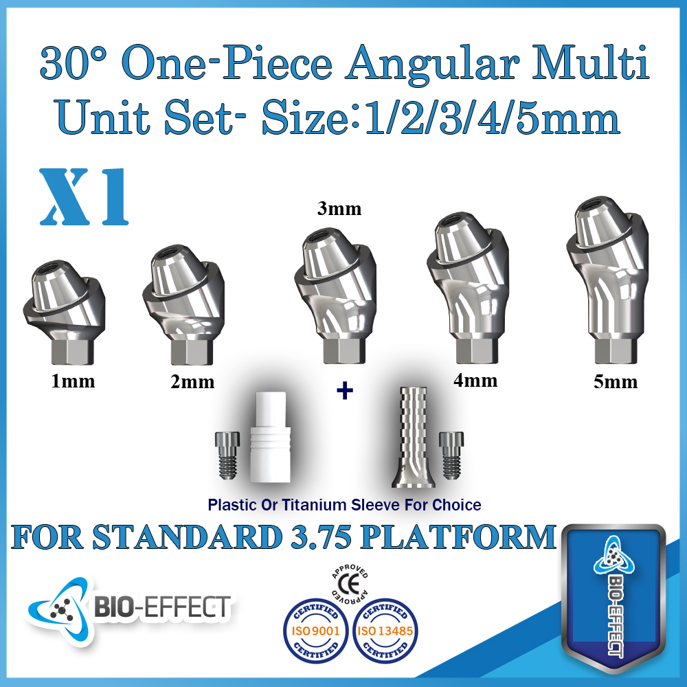 1x Angular 30 Degree One-piece Multi-unit Abutment ,For Internal Hex Dental Implants,Bio-Effect Top Quality1x Angular 30 Degree One-piece Multi-unit Abutment ,For Internal Hex Dental Implants,Bio-Effect Top Quality