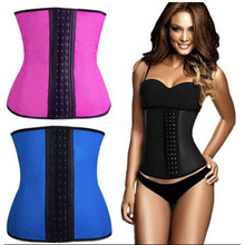 Rubber Instrutor Shapewear Smooth Latex New Cincher Zipper Ganchos Corset XXL/XXXL size black/purple/blue/rose red color