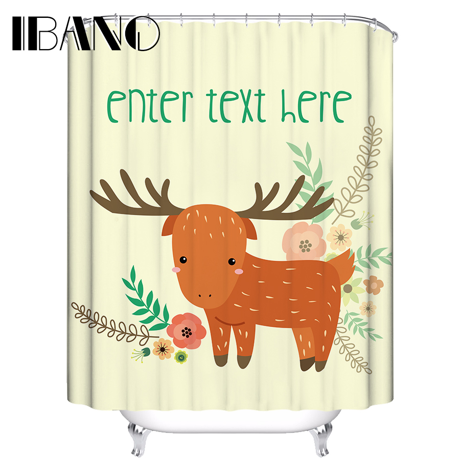 IBANO Shower Curtain Colorfuls Animals Waterproof Polyester Fabric 180x180cm Shower Curtain For The Bathroom With 12pcs Hooks
