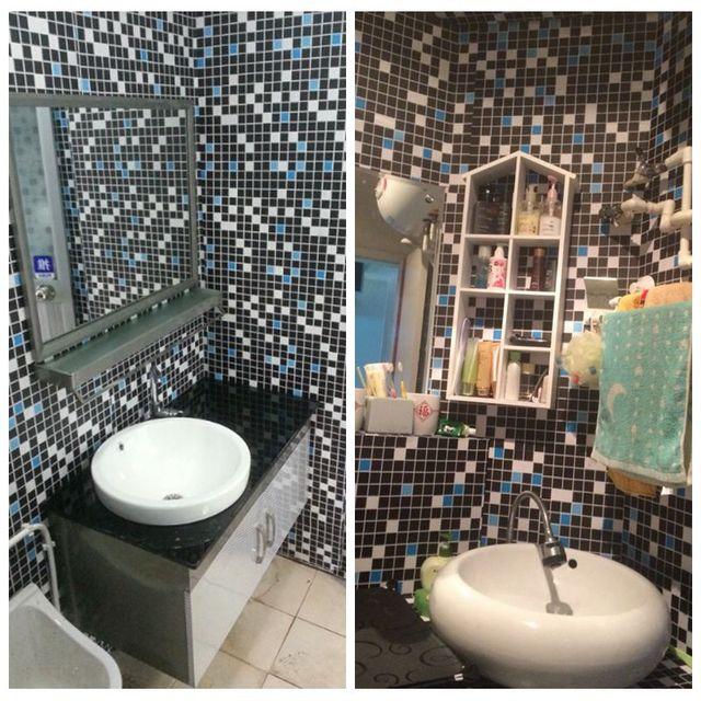 0,6 Mt * 5 Mt Selbstklebende Wasserdichte Mosaik Tapete Vinyl PVC Küche  Aufkleber Bad