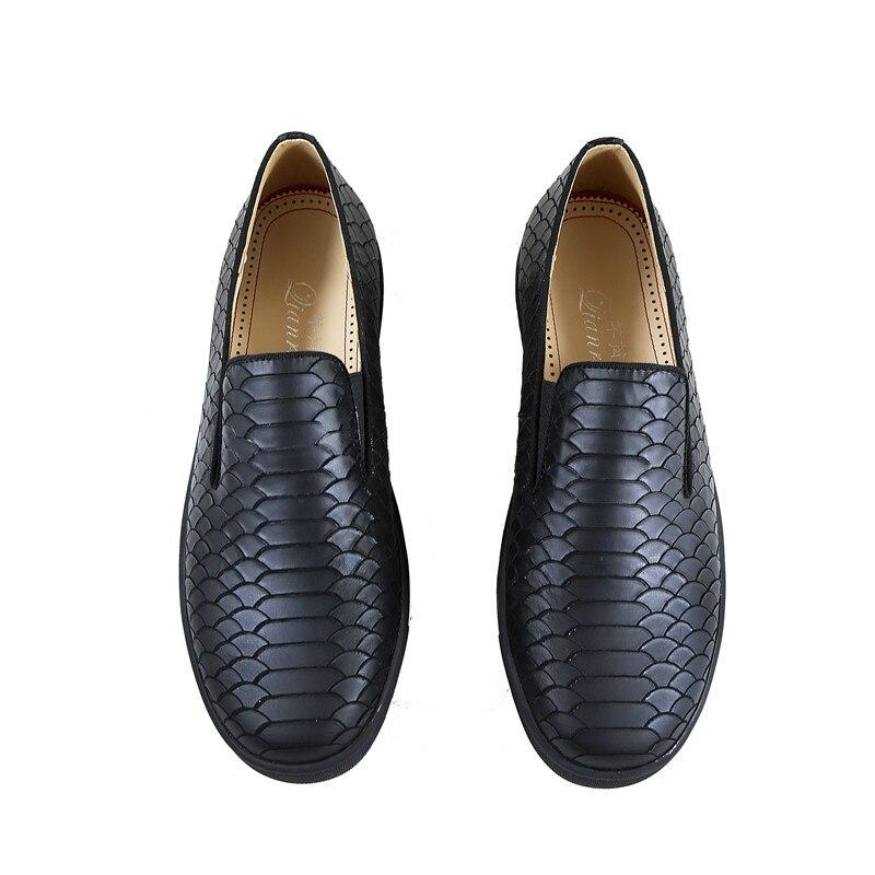 Qianruiti nouveauté en plein air hommes chaussures de loisir à la mode Design Simple talon plat sans lacet chaussures hommes chaussures vulcanisées - 4