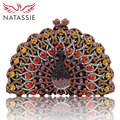 NATASSIE Women Evening Bags Ladies Green Clutches Female Crystal Clutch Black Party Bags