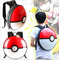 3D Pokemon Pikachu Go Poke Ball PVC Shoulder Bag Schoolbag Backpack Round Ball Travelbag Lovely